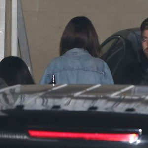 Selena arriving at Bible study lesson in Los Angeles