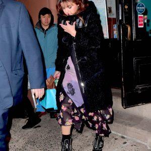 Selena leaving Mariebelle in New York