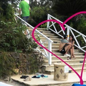 Selena and Justin Bieber in Jamaica