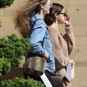 Selena arriving at Nobu in Malibu
