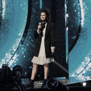 18 April Selena at the rehearsal for We Day California