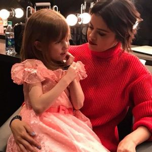 April 19 Selena with the girl Nellie at We Day California