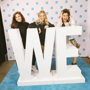 April 18 Selena at the rehearsals for We Day California