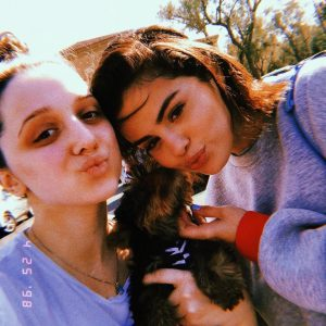 25 April Selena with fans at the Newport Beach, California