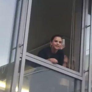 23 April Selena greeting fans at Puma HQ Vision HQ in Germany