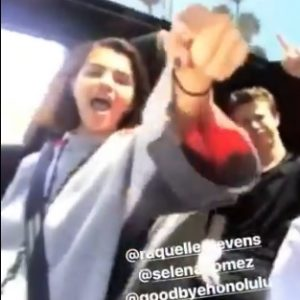 28 May Selena in Anna Collins and Fox Atticus Instagram Stories
