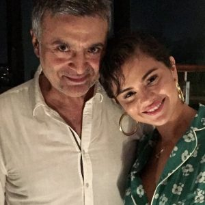 18 June Selena with a fan in Italy
