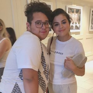 28 June Selena with fans at London West Hollywood Hotel in Los Angeles