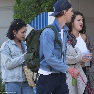 14 July Selena is out with Vanessa Hudgens and Austin Butler in Los Angeles