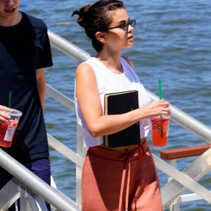 8 July Selena is out at Coney Island in New York