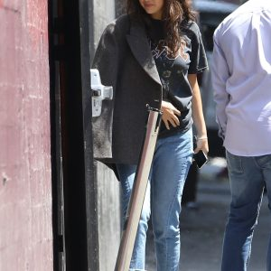 29 July Selena arriving at Church Service in Los Angeles