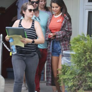 12 July Selena on set of zombie movie Kill The Head in New York