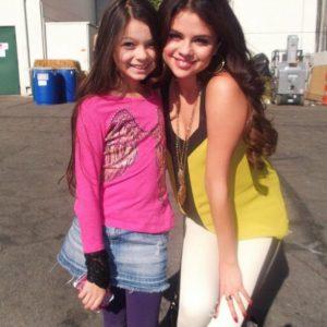 22 July @missnikkihahn on Twitter: When Selena and I were babies