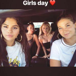 14 August Selena in Raquelle Stevens's Instagram Story