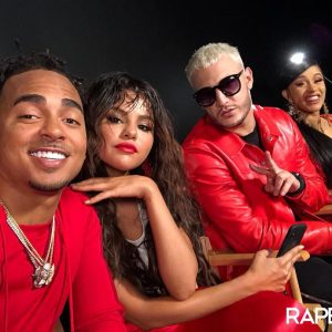 24 August @rapeton on Instagram: #Ozuna #SelenaGomez #DjSnake and #CardiB ready to record the new video
