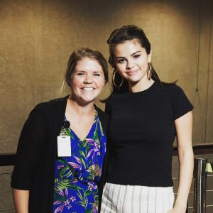 9 August @cmrice5 on Instagram: I'm smiling a little too hard because I met Selena Gomez