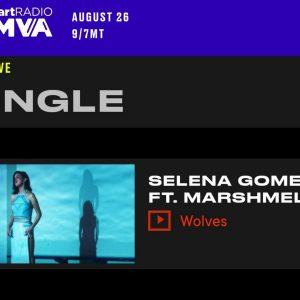 2 August vote for Selena at Much Music Video Awards