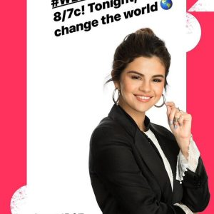 17 August Selena on Instagram Stories: Join me tonight for #WEday on ABC