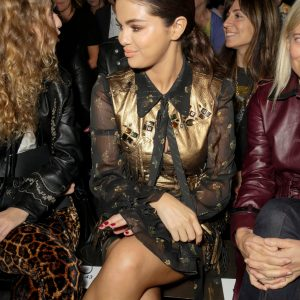 11 September check out candids of Selena at the Coach Fashion Runway Show in New York