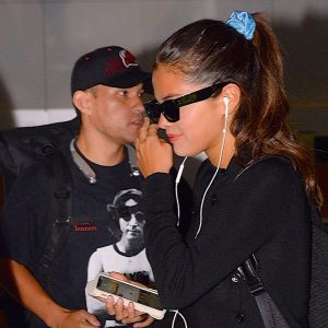 12 September Selena spotted departing from airport JFK in New York