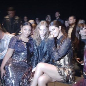 11 September Selena at the audience at Coach Fashion Show in New York