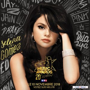 4 October vote for Selena on NRJ Music Awards