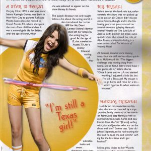 "4 November check out rare scan ""Im Still A Texas Girl"" with Selena from Pop Star Magazine"