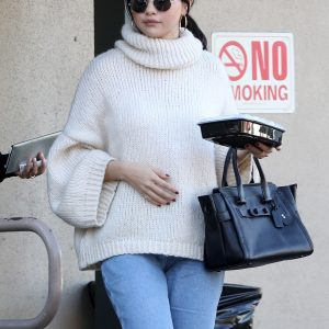 31 December Selena leaving Hugo's restaurant in Los Angeles