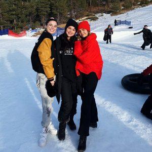 18 December Selena at Big Bear Lake in California