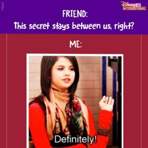 17 January @disneyinthd on Instagram: Your secret is safe with me and my BFF! @selenagomez