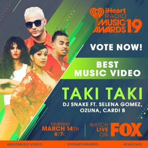 9 January Taki Taki has been nominated as Best Music Video at iHeartAwards 2019