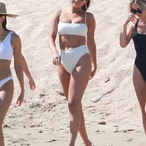 11 February Selena playing on the beach in Los Cabos, Mexico