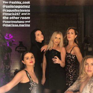 8 March Selena in Amy Rosoff Davis's Instagram Story