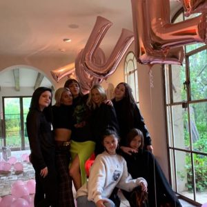 21 March Selena celebrating Raquelle Stevens's birthday