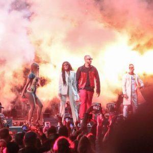 12 April Selena performing Taki Taki with DJ Snake, Ozuna and Cardi B at Coachella