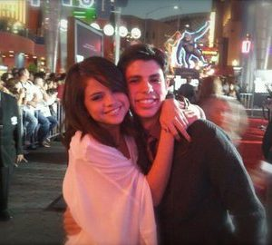 20 April new rare pics of Selena with a fan