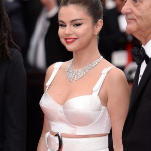 14 May Selena on the red carpet of Cannes Film Festival