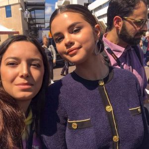 15 May Selena with a fan in Cannes