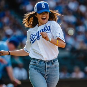 7 June more pics of Selena plays baseball at The Big Slick in Kansas