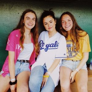 7 June Selena with fans at The Big Sick celebity softball game