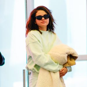 12 June Selena departing from airport JFK in New York