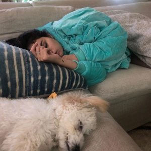 28 August Selena on Instagram: Wednesdays, a huge bright blue comfy and Winnie