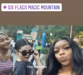 18 August Selena with fans at Six Flags in Santa Clarita, California