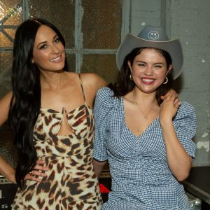 25 August Selena backstage at Kacey Musgraves concert in Los Angeles, California