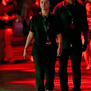 22 September Selena spotted at Halloween Horror Nights in Los Angeles, California
