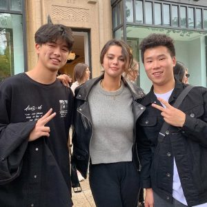14 September Selena with fans in Boston