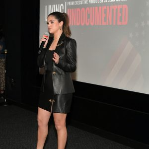 2 October Selena at the premiere of Living Undocumented in Los Angeles