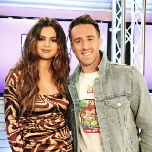 28 October new pics of Selena with radio DJ's on NEW 102.7 in New York