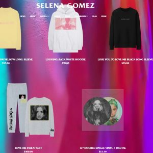 23 October new merchandise on Selena's website