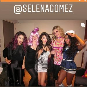 9 November Selena in @ashleenino's Instagram Story